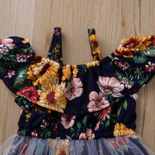 Load image into Gallery viewer, Summer Boho Flower Kids Dress For Girl Toddler Baby Girl Sweet Floral Vest Princess Ruffle Vintage Mesh Dance Dress Kids Clothes