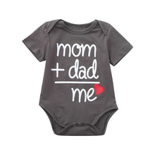 Load image into Gallery viewer, Mom + Dad = Me Baby Onesie