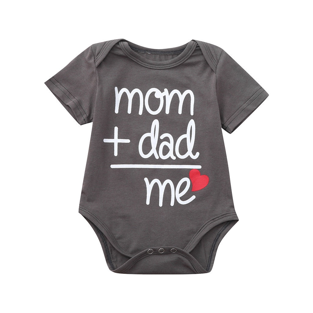 Mom + Dad = Me Baby Onesie