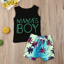 Load image into Gallery viewer, KLV toddler baby clothes set baby clothes boys Letter Vest Tops Print Shorts 2PC Outfits Sets Summer#y20