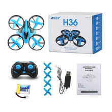 Load image into Gallery viewer, JJRC H36 H36F Mini Drone 2.4G 4CH 6-Axis Speed 3D Flip Headless Mode RC Drones Toy Gift Present RTF VS E010 H8 Mini