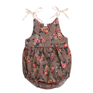 LillyBelle Nordic Style Floral Romper 0-24 months -available in 2 colors-