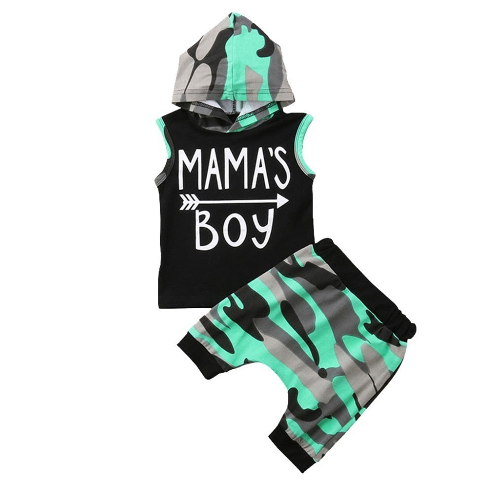 Mama's Boy 2 Piece Outfit Set