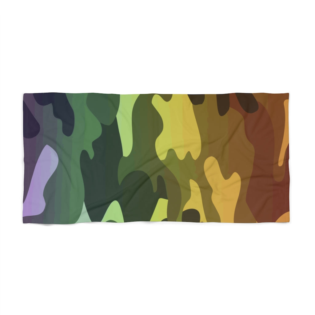 Camouflage Ombre Beach Towel