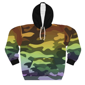 Ombre Camouflage AOP Unisex Pullover Hoodie