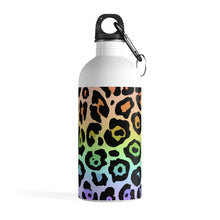 Load image into Gallery viewer, Leopard Rainbow Ombre Stainless Steel Water Bottle
