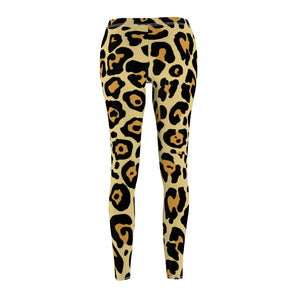 Leopard Women's Cut & Sew Casual Leggings