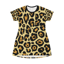 Load image into Gallery viewer, Leopard All Over Print T-Shirt Dress