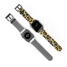 Load image into Gallery viewer, Leopard w/ Metallic Gold Base Apple Watch Band