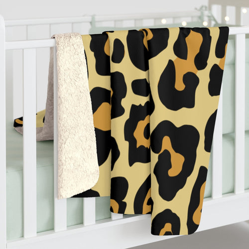 Leopard Sherpa Fleece Blanket