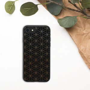 Gold Flower of Life Biodegradable Phone Case
