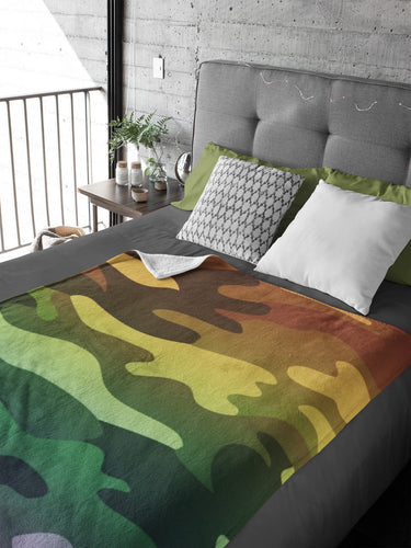 Camouflage Sherpa Fleece Blanket