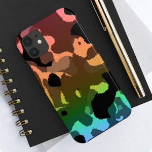 Rainbow Camouflage Case Mate Tough Phone Cases