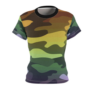 Camouflage Ombre Women's AOP Cut & Sew Tee