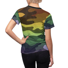 Load image into Gallery viewer, Camouflage Ombre Women's AOP Cut & Sew Tee