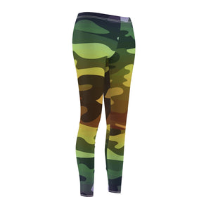 Ombre Camouflage Women's Cut & Sew Casual Leggings