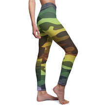 Load image into Gallery viewer, Ombre Camouflage Women's Cut & Sew Casual Leggings