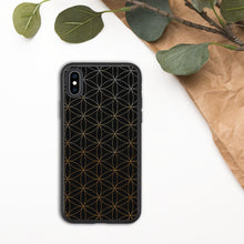 Load image into Gallery viewer, Gold Flower of Life Biodegradable Phone Case