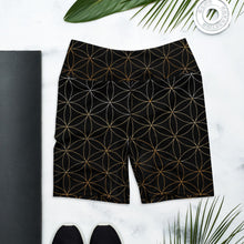 Load image into Gallery viewer, Flower of Life Yoga Shorts