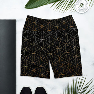 Flower of Life Yoga Shorts