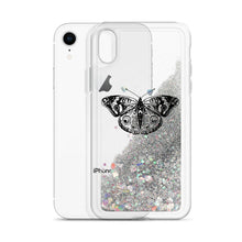 Load image into Gallery viewer, Butterfly Liquid Glitter Phone Case