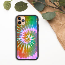 Load image into Gallery viewer, Tie-Dye Biodegradable iPhone Case, Hippie, Boho, Eco-Friendly, Colorful, Rainbow, Swirl, Bohemian, iPhone 11, 8,7,X,SE