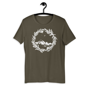 Wanderlust Shirt, Colorado Shirt, Hiking Shirt, Travel Shirt, Nature Clothing, Roadtrip Shirt, Mountain T Shirt, Short-Sleeve Unisex T-Shirt