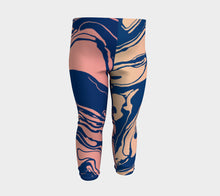 Load image into Gallery viewer, Baby Leggings, Sand Gold Marble Wash, Baby Yoga Pants, Earthy, Geological, Elemental, Trendy, Unique, Baby Shower Gift, Baby Leggings, Pants