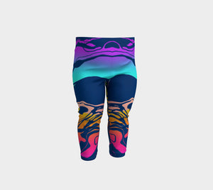 Baby Leggings, 3 months- 3 years, Colorful Ombre Marble Wash, Yoga Baby Pants, Baby Shower Gift, Unique, Eclectic, Trendy Baby