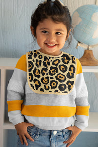 0-36 months Leopard Fleece Baby Bib, Animal Print Bib, Baby Gift, Fashionable Bib