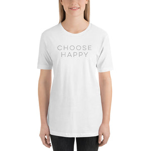 Choose Happy Shirt, Happy Shirt, Womens Shirt, Womens Top, Tshirt, Unisex Shirt, Inspirational Shirt, Quote Shirt, Shirts, Unisex T-Shirt