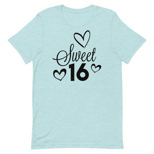 16th Birthday Shirt, 16th Birthday Outfit, 16 Years Old Shirt, Gift For 16th Birthday, Sixteenth Bday Gift, Birthday Girl Shirt, 16th Tee