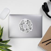 Load image into Gallery viewer, Succulent Wreath Sticker, Bubble-free, Succulents, Plant Lover, Botanical, Bloom, Flowers, Desert, Boho, Laptop Sticker, Multisurface