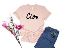 Load image into Gallery viewer, Ciou, Cute Comfy Short-Sleeve Unisex T-Shirt, Italian, Travel Top