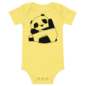 Cute Baby Panda Baby Onesie, Simple Aesthetic, Black Line Sublimation, Animal Lover, Boho, Bohemian, Baby Shower Gift, New Mom, Mother Gift