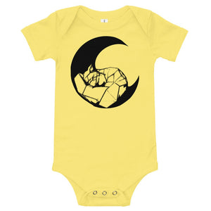Fox on the Moon, Baby Onesie, Animal Lover, Sleeping Fox, Cute Curled Up Fox, Baby Shower Gift, Modern, Simple Aesthetic, Sublimation Print