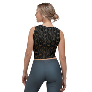 Flower of Life Crop Top, Sacred Geometry, Yoga, Festival, Athletic, Athleisure, Tank Top, Seed of Life, Tesssellations, Clothing