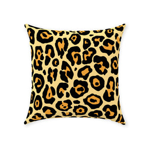 Leopard Throw Pillows, Animal Lover, Big Cat, Leopard Print, Boho, Teen, Womens, Bedroom, Living Room Throw Pillow Available In 5 Sizes,