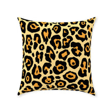 Load image into Gallery viewer, Leopard Throw Pillows, Animal Lover, Big Cat, Leopard Print, Boho, Teen, Womens, Bedroom, Living Room Throw Pillow Available In 5 Sizes,