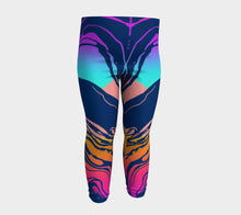 Load image into Gallery viewer, Baby Leggings, 3 months- 3 years, Colorful Ombre Marble Wash, Yoga Baby Pants, Baby Shower Gift, Unique, Eclectic, Trendy Baby