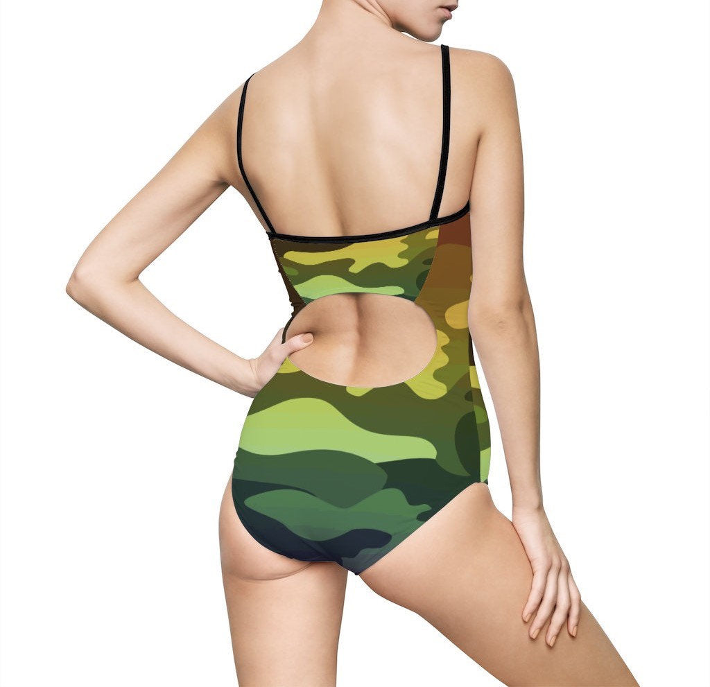 Camouflage Ombre Women's One-piece Swimsuit