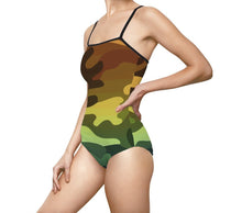 Load image into Gallery viewer, Camouflage Ombre Women's One-piece Swimsuit