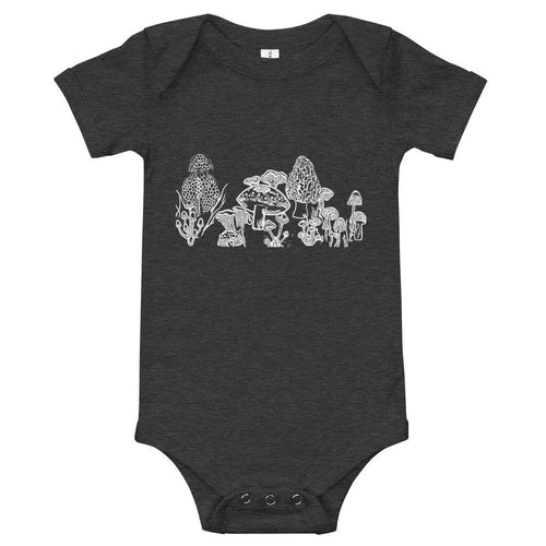 Mushrooms Baby Onesie, Nature Lover, Botanical, Colorado, Outdoors, Forrest, Plant Lover, Boho, Baby Clothing, 0-24 months, Unisex