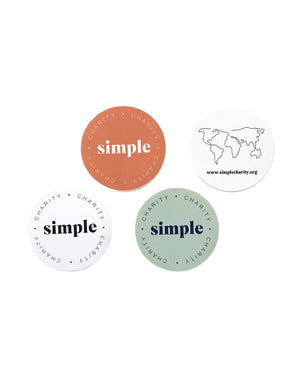 Simple Charity Stickers
