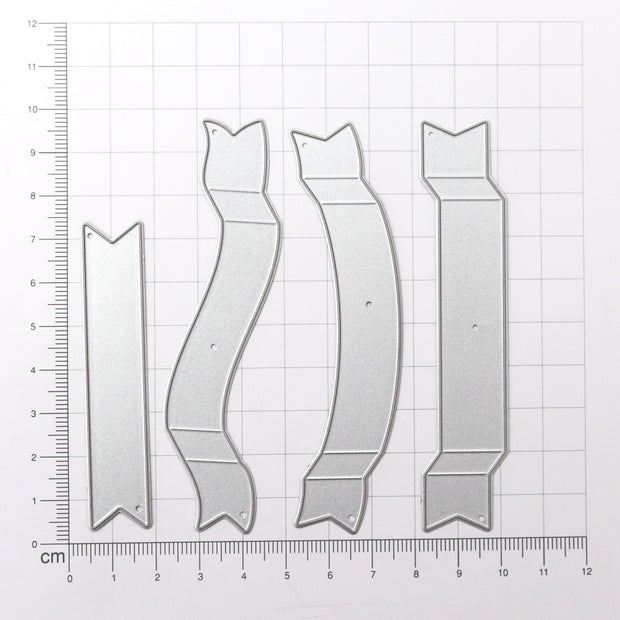 Thincut Dies - Scroll Banners, 4pc