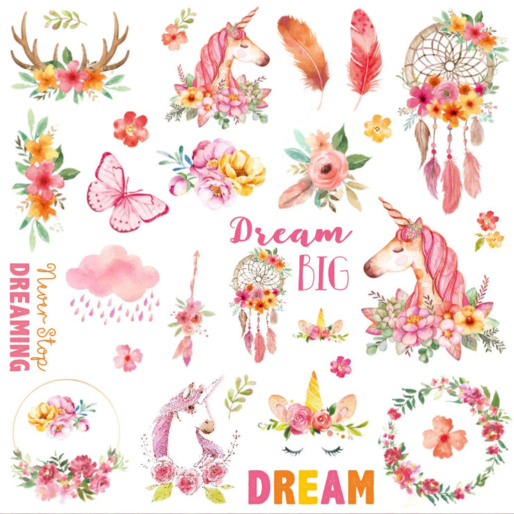 Boho Dreams Ephemera Embellishment - 60Pc