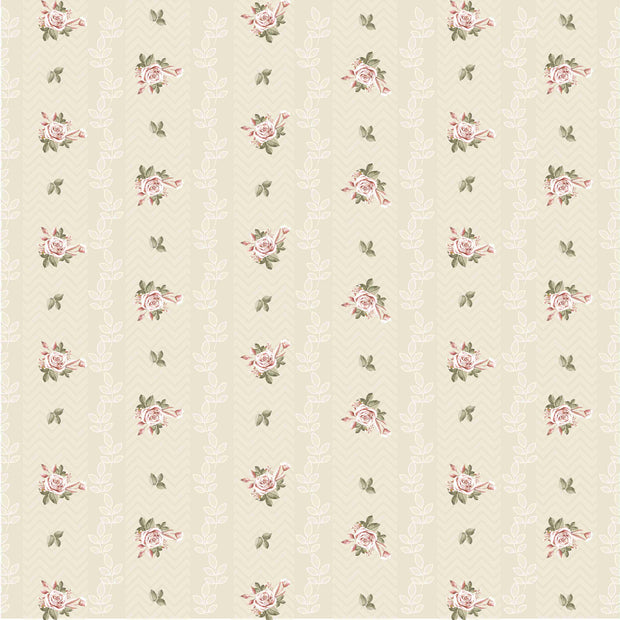Paper Pack Shabby Chic Bouquet- 6in x 6in, 24 sheet, 12 Designs, 250 gsm
