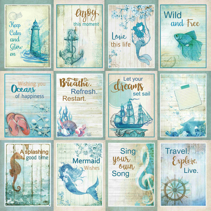 Songs of the Sea Card Stock- 6X6 Inch