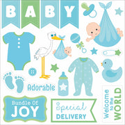 "Little Miracle Baby Boy Collection - Printed Cardstock Pack 6""x 6"", 24 Sheets"
