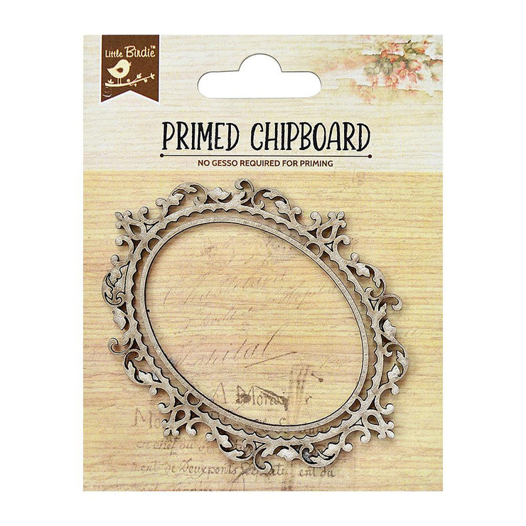 Primed Chipboard- Oval Frame, 1pc